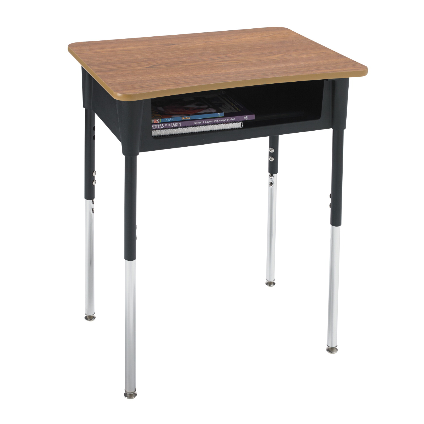 Classroom Select Contemporary A+ Open Front Desk, 20 x 26 Inch Laminate Top, Various Options
