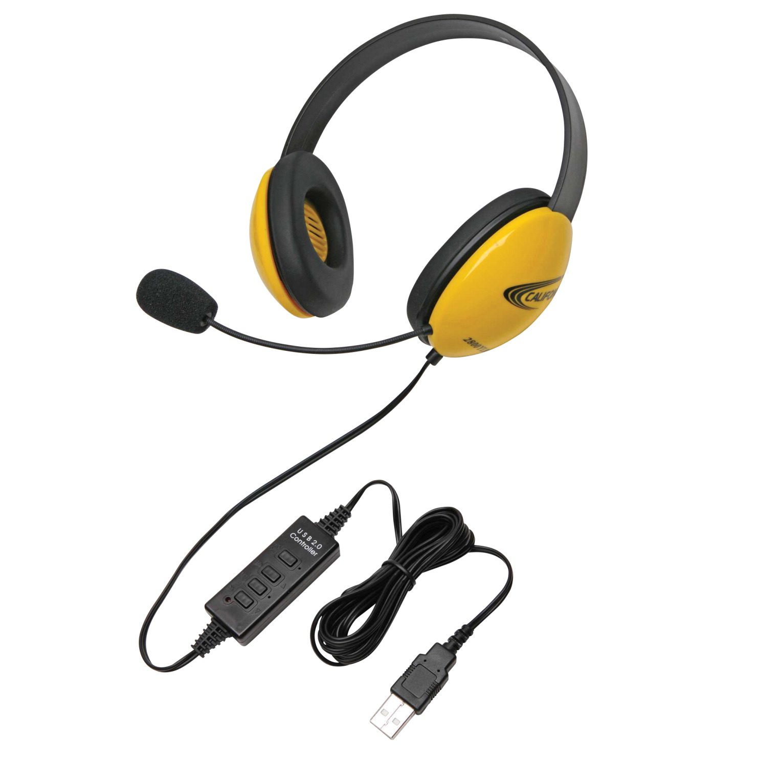 Califone 2800YL-USB Listening First Headset, Yellow