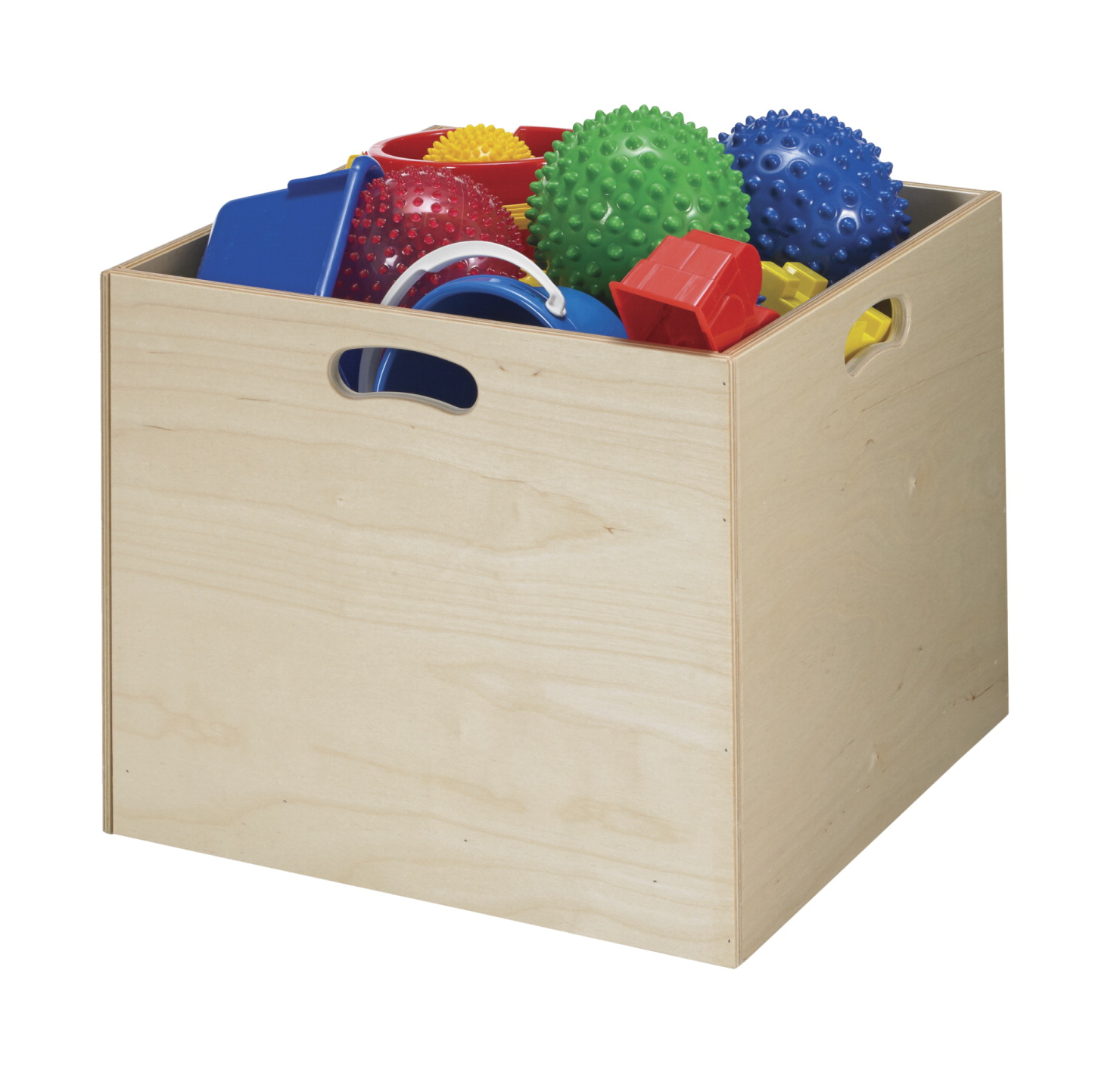 Childcraft Wooden Storage Bin, 19-7/8 x 19-7/8 x 17-5/16 Inches
