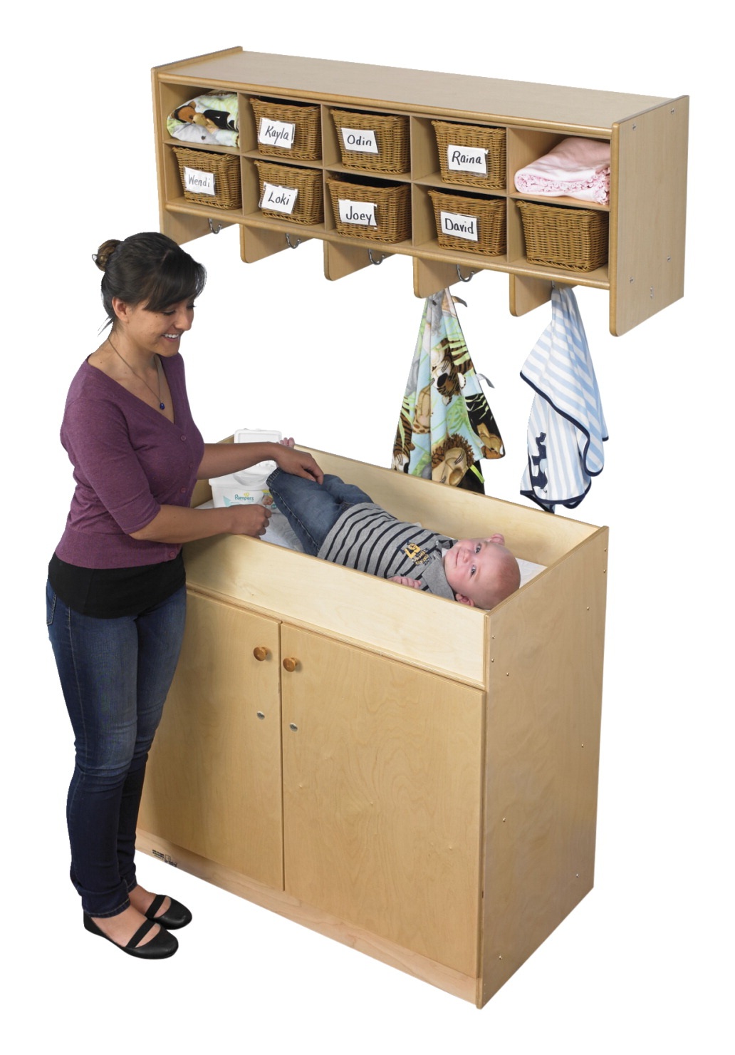 Childcraft Changing Table With Doors 40 X 20 X 36 Inches