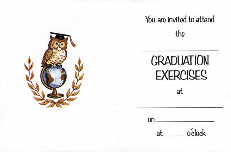 Hayes Owl Graduation Invitation with Envelopes, Pack of 25