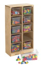 Childcraft Mobile Cubby with 10 Clear Trays, 19-3/4 x 14-1/4 x 36 Inches
