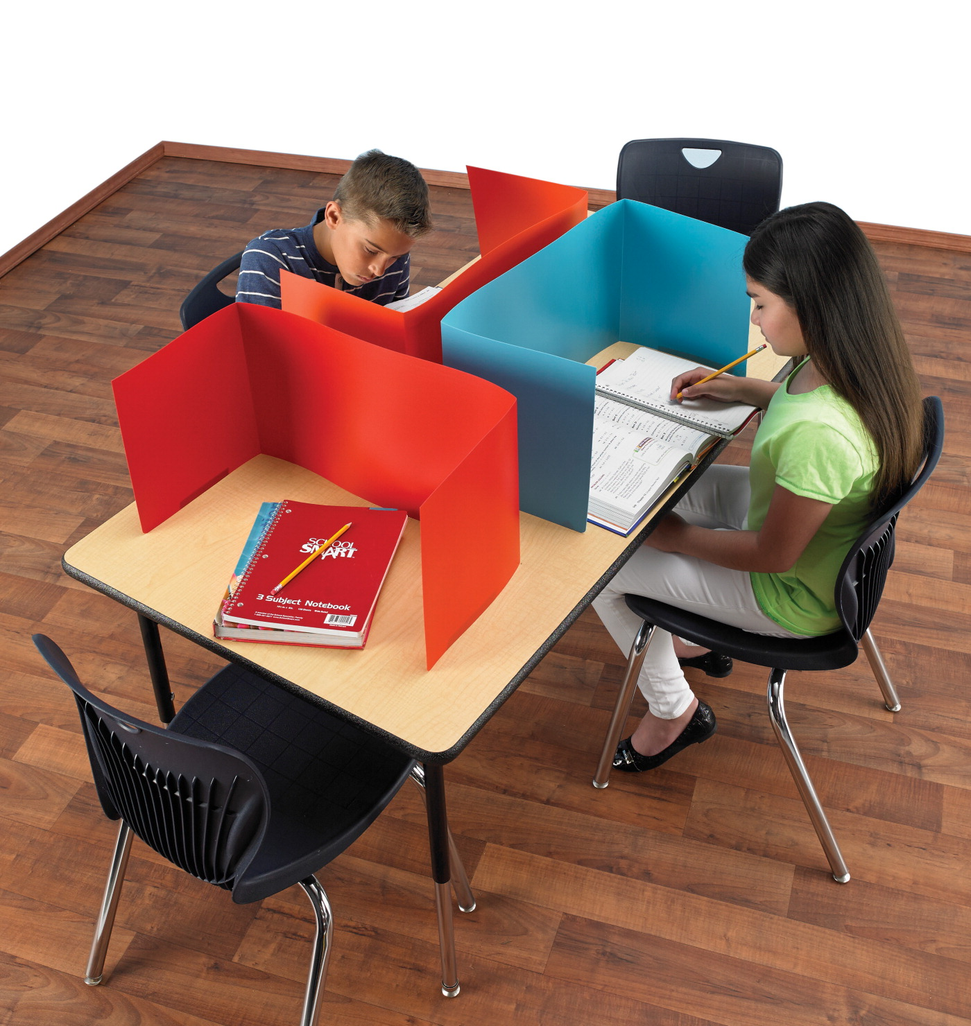 School Specialty Porta-Screen Carrel for Use with Tabletop, Colors May Vary