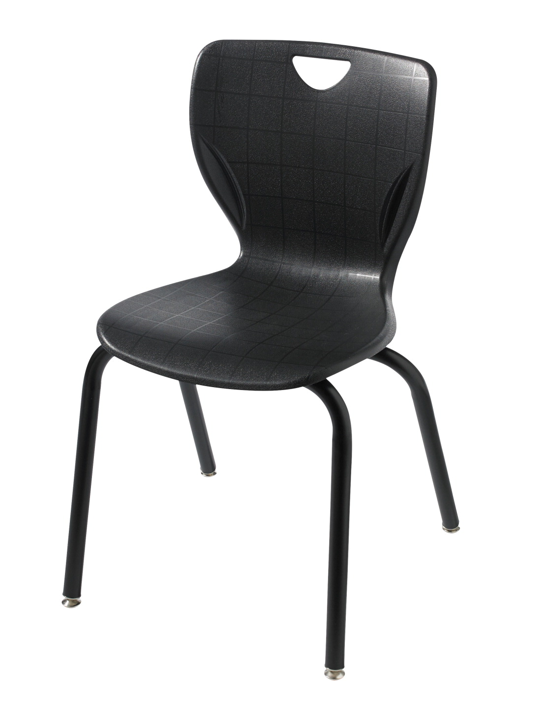 Classroom Select Contemporary Chair, 10 Inch Seat Height, Black Frame, Various Options