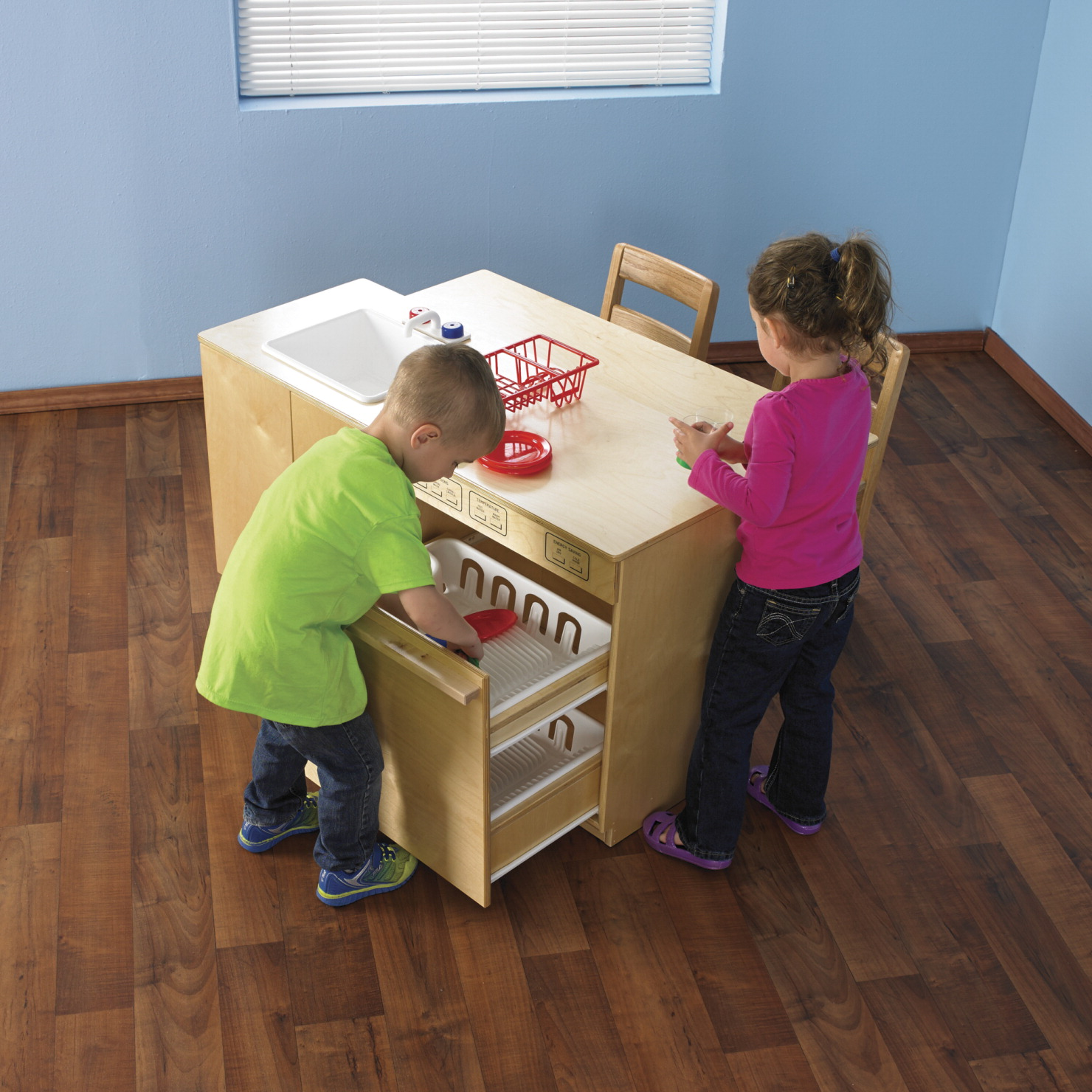 Childcraft modern sink and dishwasher combo classroom direct for Child craft play kitchen