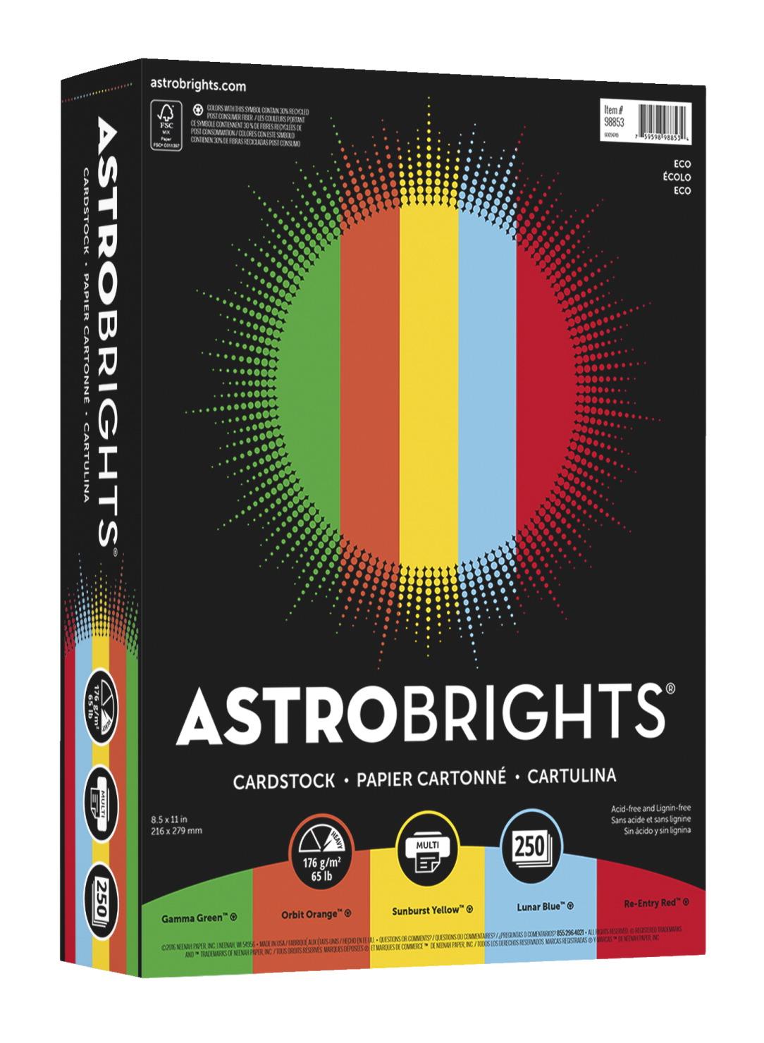 Astrobrights Color Cardstock Letter Size Eco Assortment