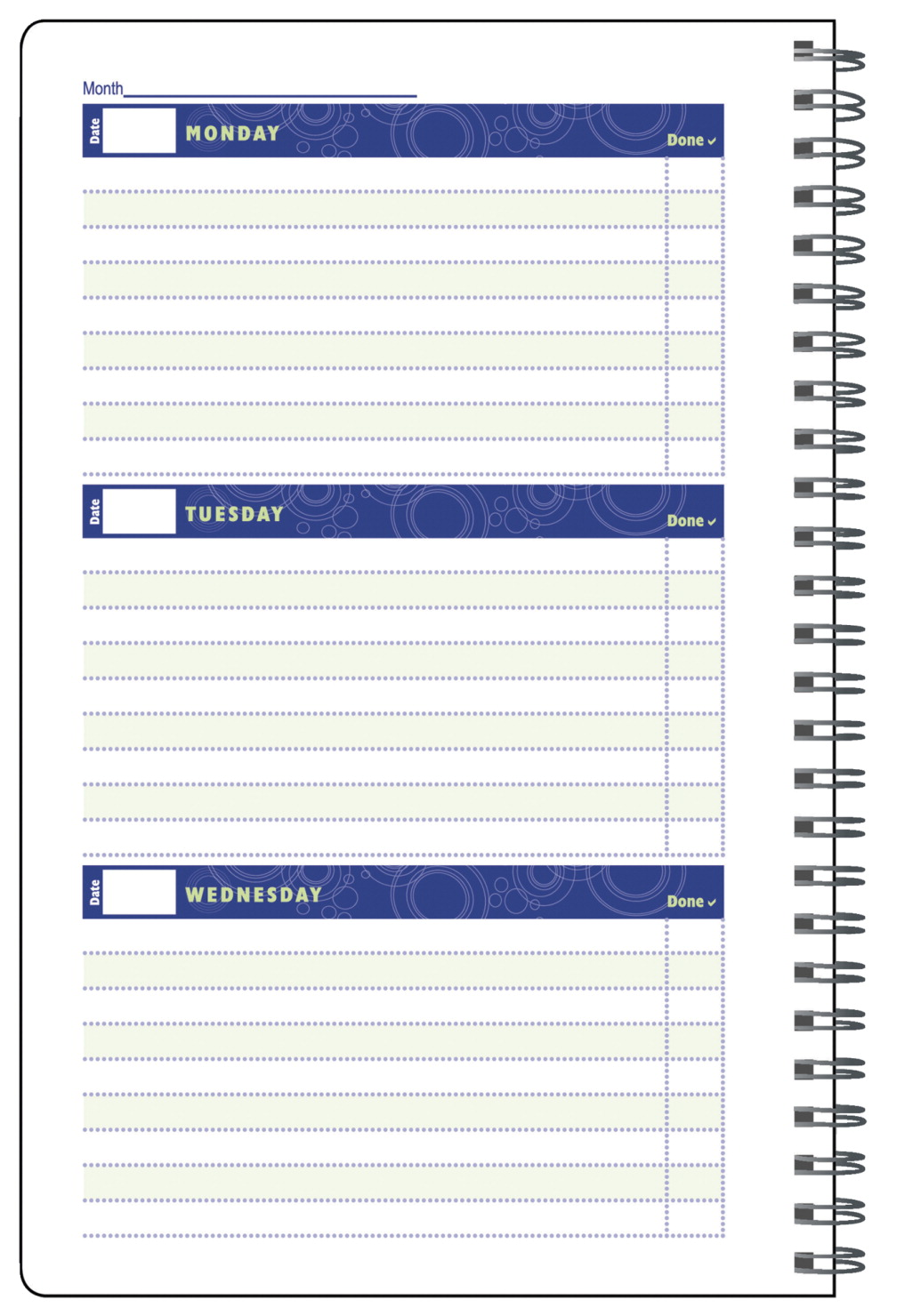 Hammond & Stephens Undated Weekly Student Planner, 5 x 8 Inches, 96 Pages