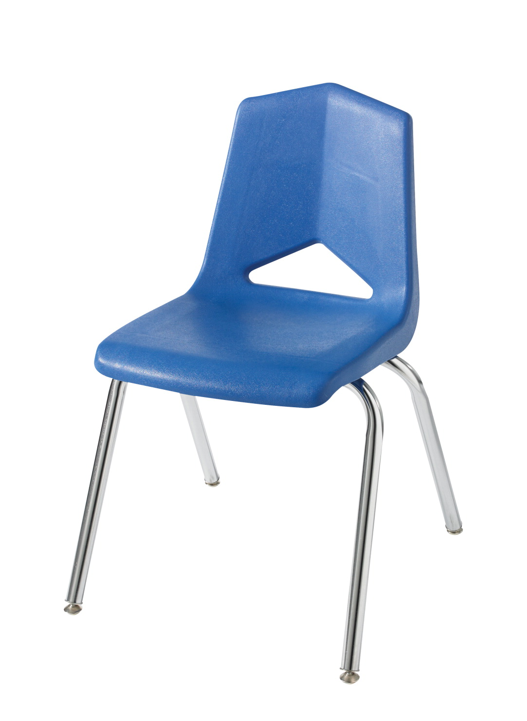 Classroom Select Royal Seating 1100 Four Leg Soft Plastic Shell Chair, 16 Inch Seat, Chrome Frame, Various Options