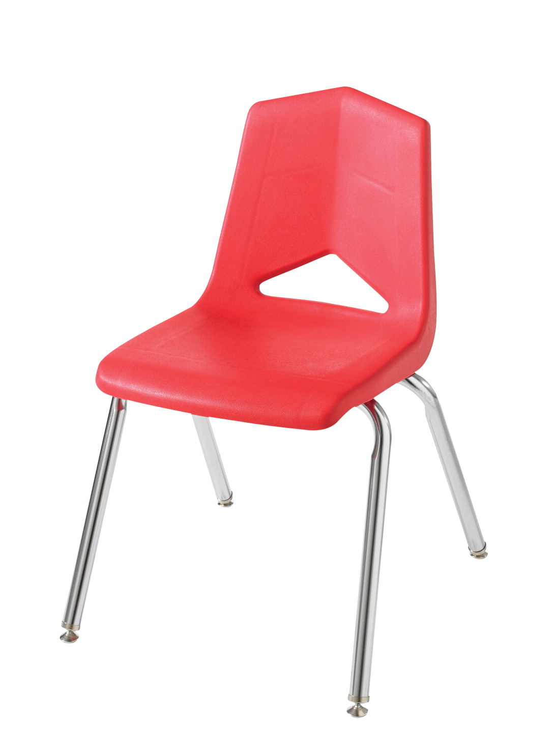 Royal Seating 1100 Four Leg Soft Plastic Shell Chair, 18 Inch A+ Seat, Chrome Frame, Various Options