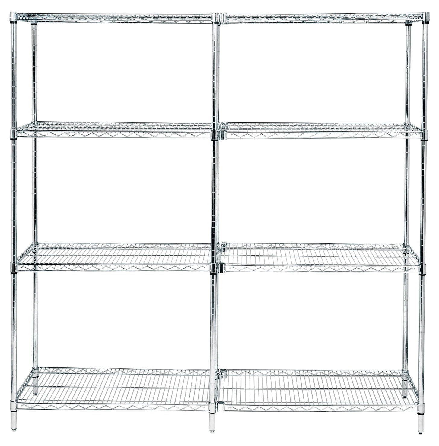 quantum 4 shelf starter storage shelving unit 36 x 18 x 63 inches - Wire Shelving Units