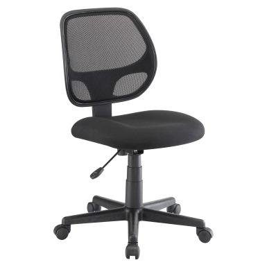 Classroom Select Armless Multi Task Chair Fabric Seat Mesh Back Black SC