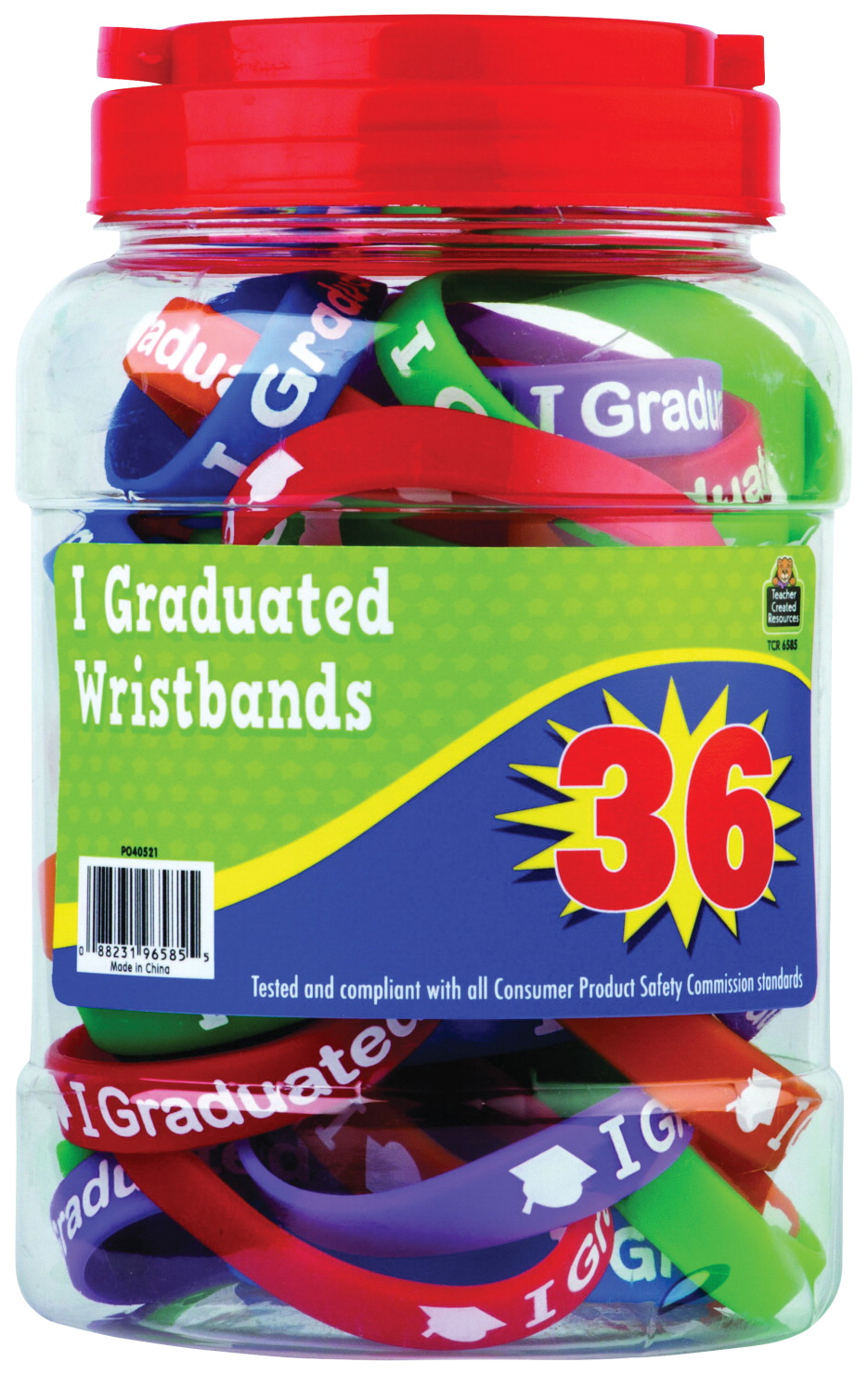 Teacher Created Resources Wristband Set, 7-1/4 in, Assorted, Set of 36