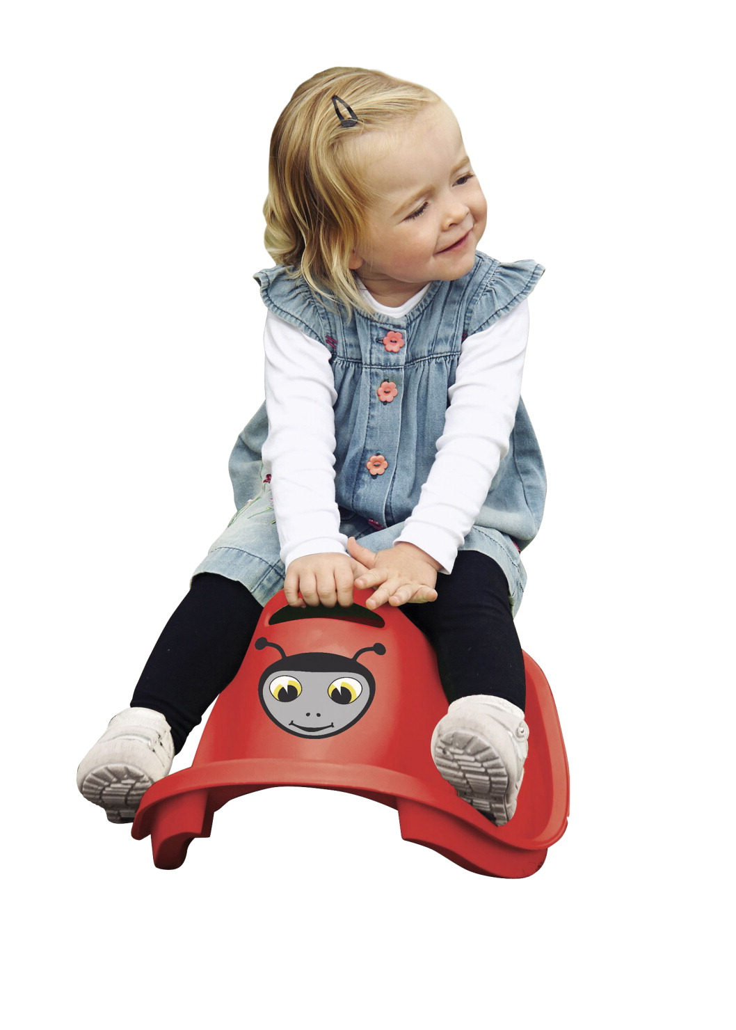 Dantoy Plastic Lady Bug Rocker, 2 Pounds, Ages 12 Months and Up, Red