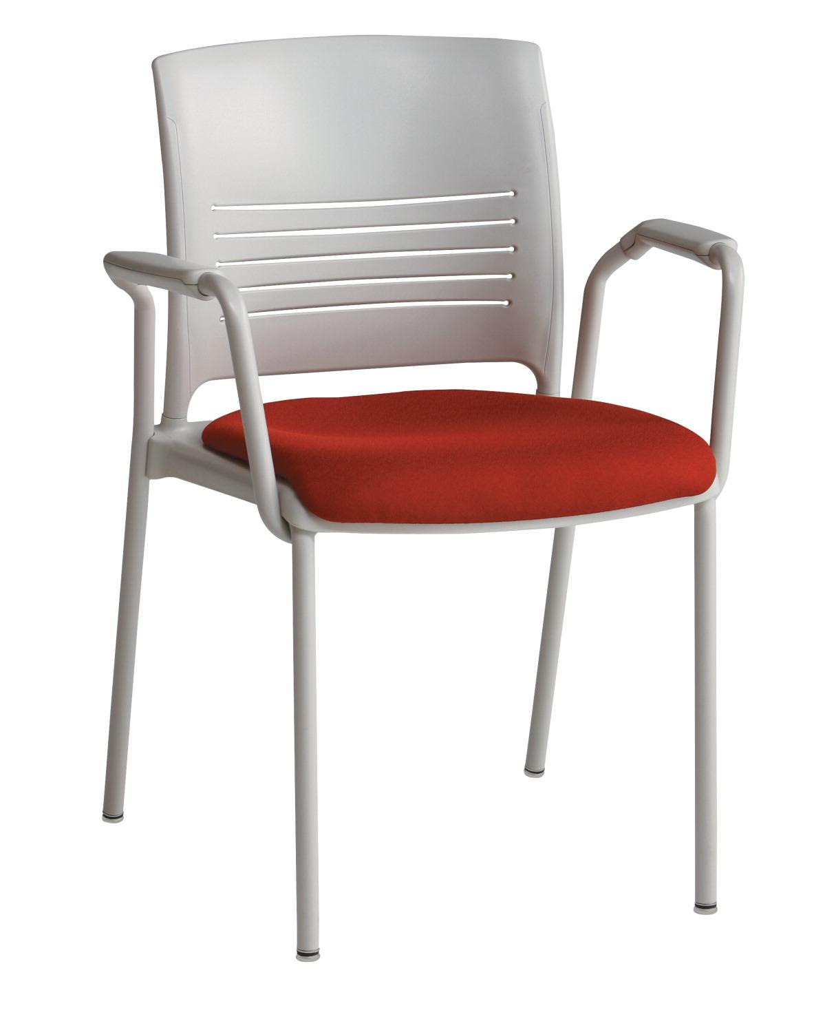 Ki Strive 4 Leg Loop Arm Poly Seat Stack Chair With Glides 17 12