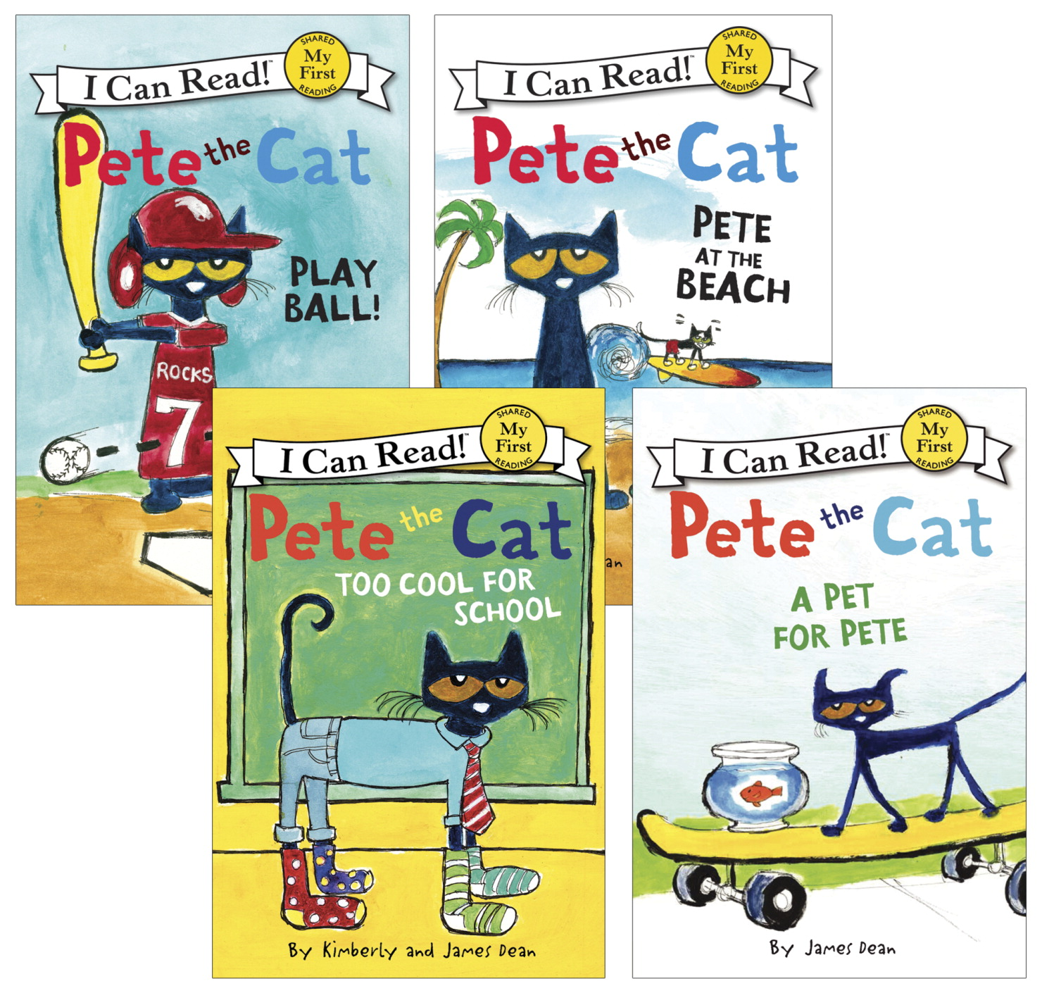 School Specialty Exclusive I Can Read Pete the Cat Set, Level 1, Grade PreK to 3, Set of 4