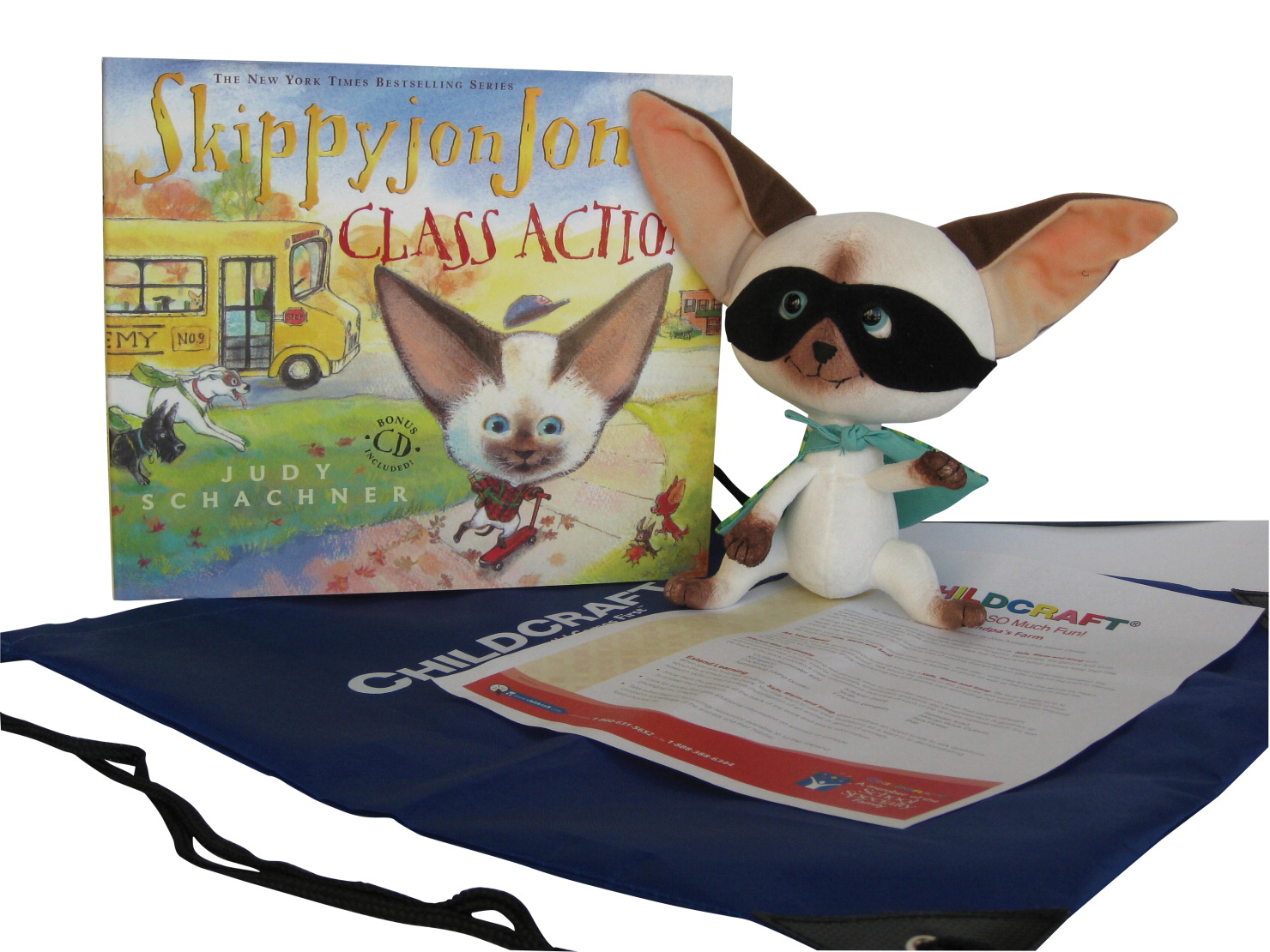 Childcraft Skippyjon Jones: Class Action Literacy Bag, Book and Plush