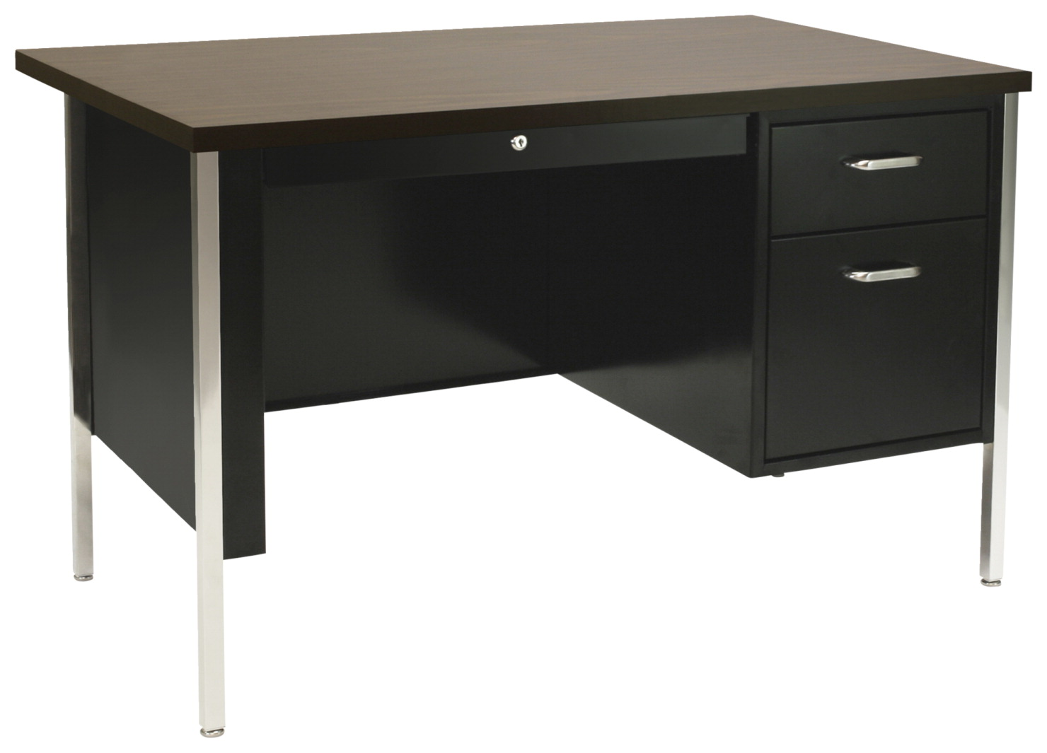 Sandusky Lee 500 Series Single Pedestal Steel Desk, 45 x 24 x 29-1/2 Inches, Various Options