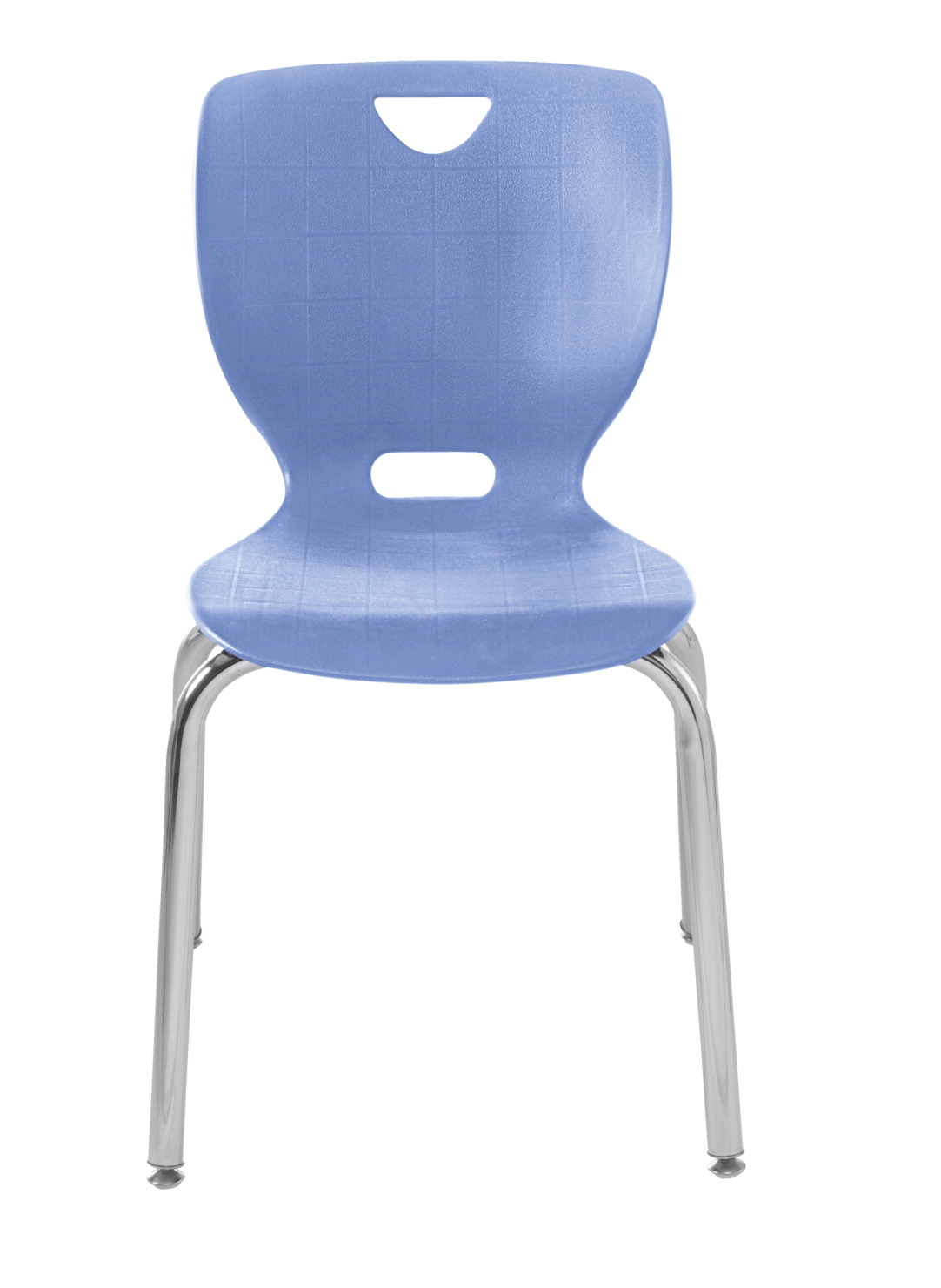 Classroom Select NeoClass Smooth Back Chair, 18 Inch A+ Seat Height, Chrome Frame, Various Options