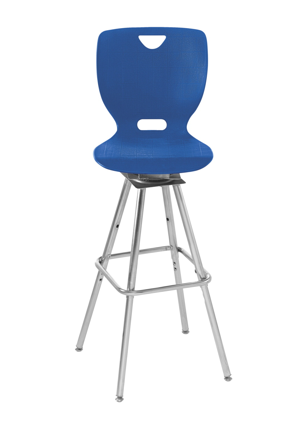 Classroom Select NeoClass Swivel Stool, 18 Inch A+ Shell Seat, Chrome Frame, Various Options