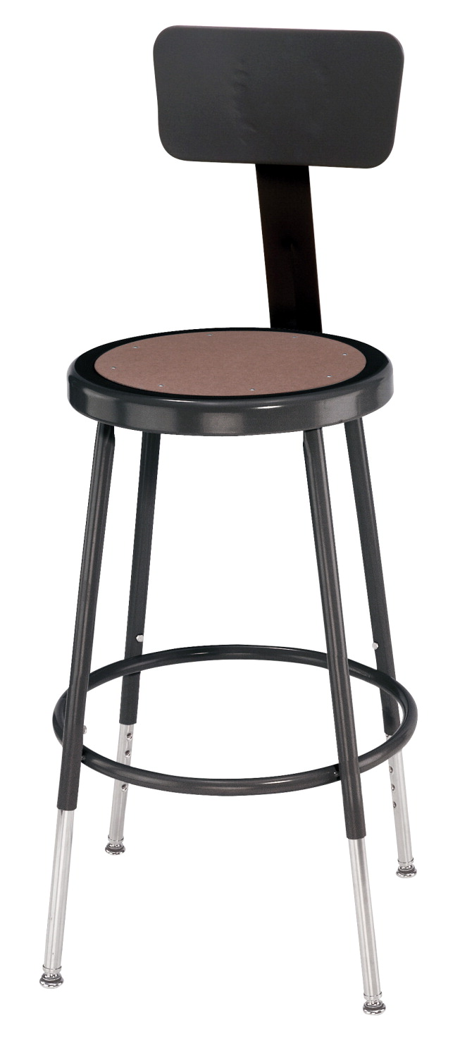 Wondrous National Public Seating Height Adjustable Heavy Duty Steel Stool With Backrest 25 33 Inch Black Forskolin Free Trial Chair Design Images Forskolin Free Trialorg
