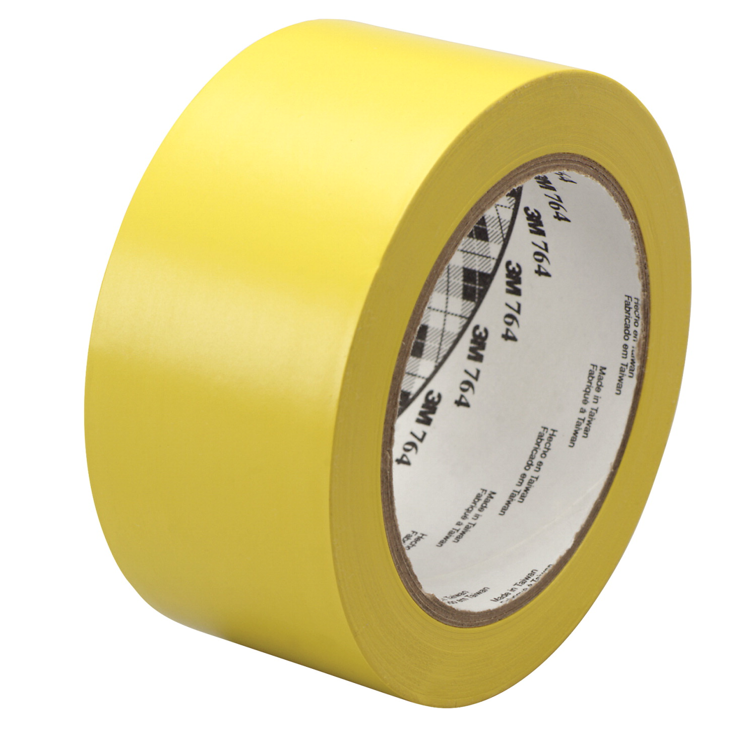3M General Purpose Wear Resistant Floor Marking Tape Roll, 1 Inch x 36 Yards, Yellow, Vinyl