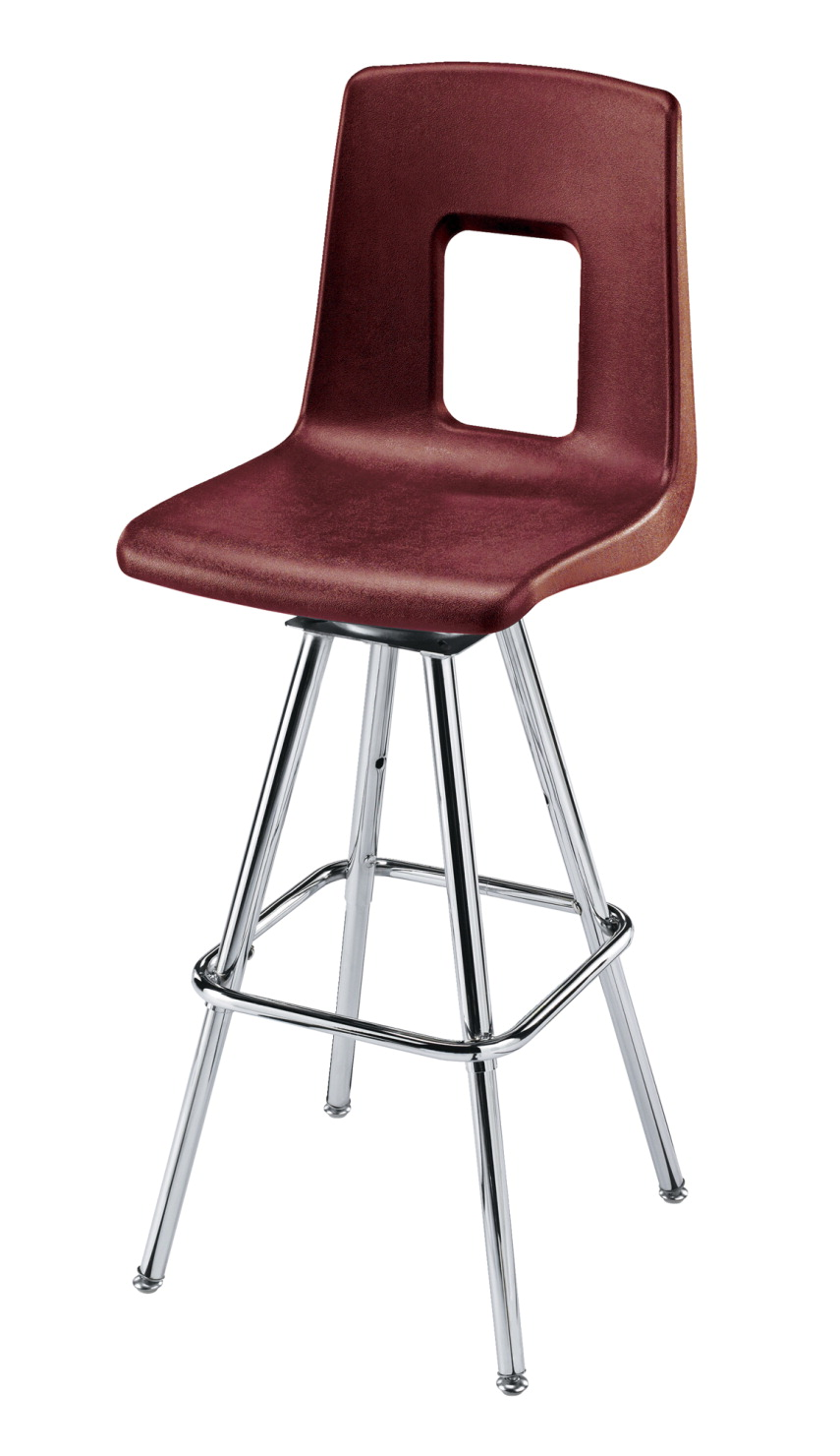 Classroom Select Traditional Swivel Stool, Adjustable Height, A Shell, Chrome Frame, Various Options