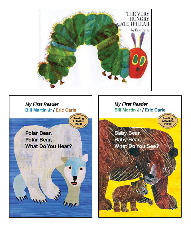 School Specialty Exclusive Eric Carle Board Book Set, Grade PreK to 1, Set of 3