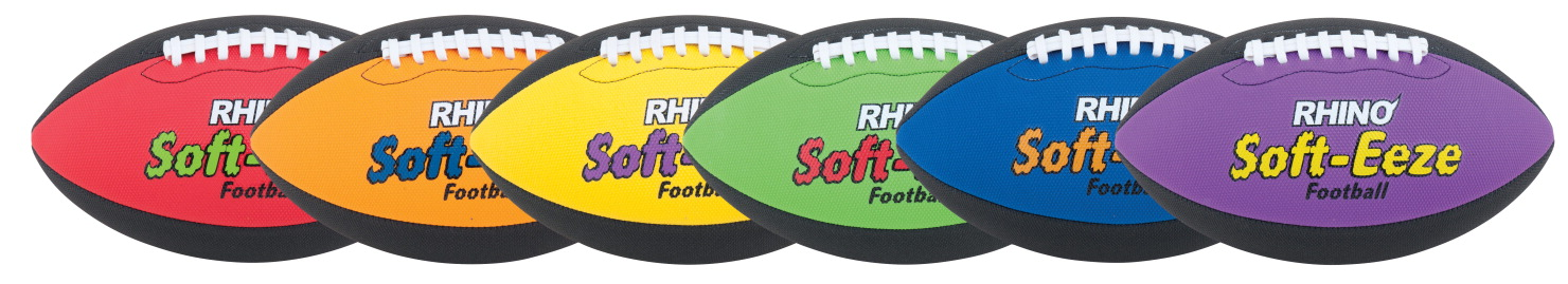 Champion Rhino Skin Soft EEZE Footballs, Set of 6