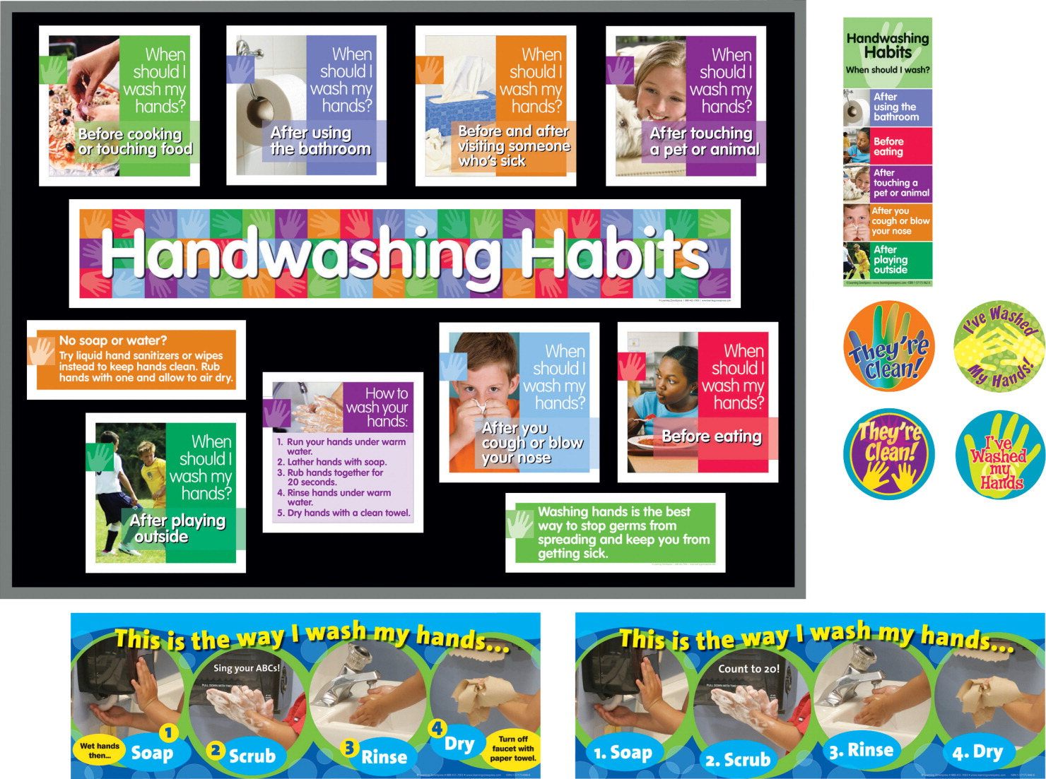 LearningZoneXpress Washing Little Hands Kit