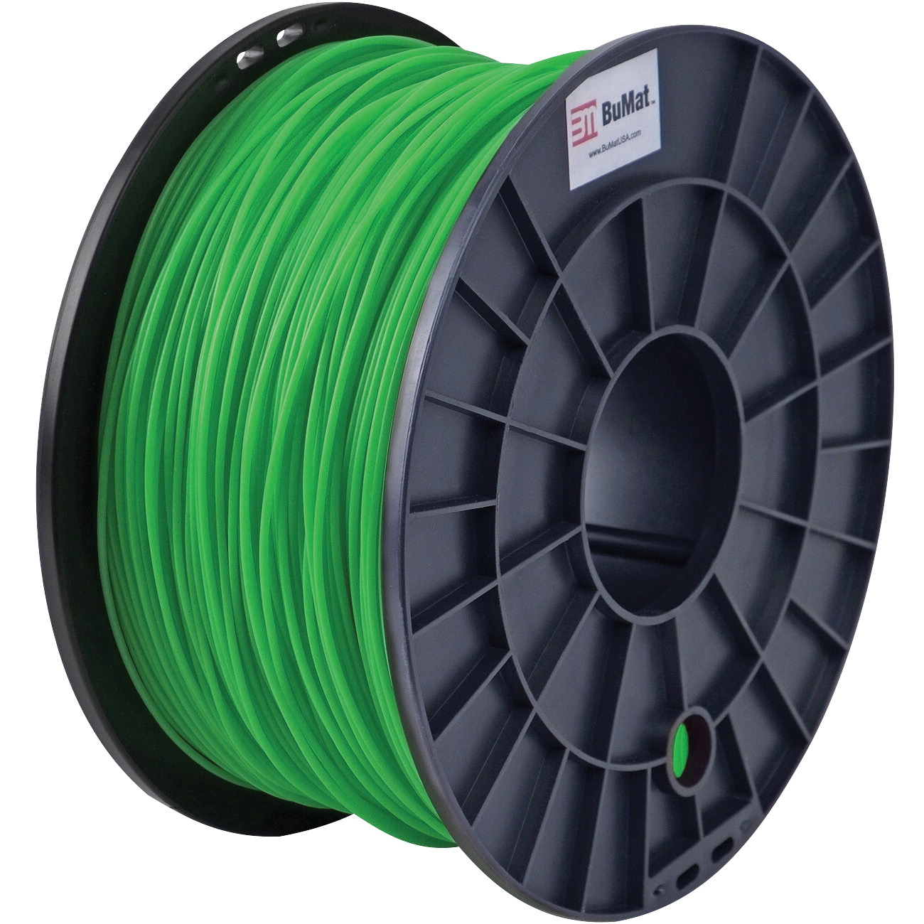 BuMat Filament Cartridge, 1.75 mm, ABS, Green, For Use With 3D Printer Nozzles