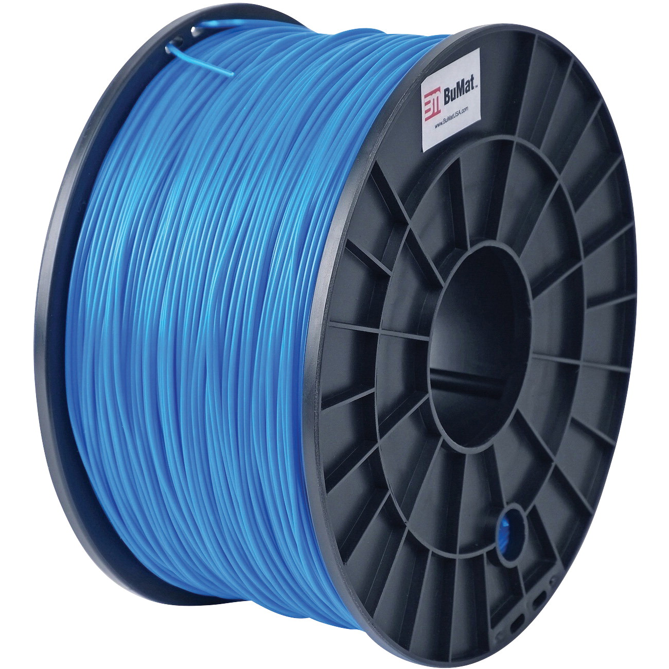 BuMat Filament Cartridge, 1.75 mm, PLA, Blue, For Use With 3D Printer Nozzles