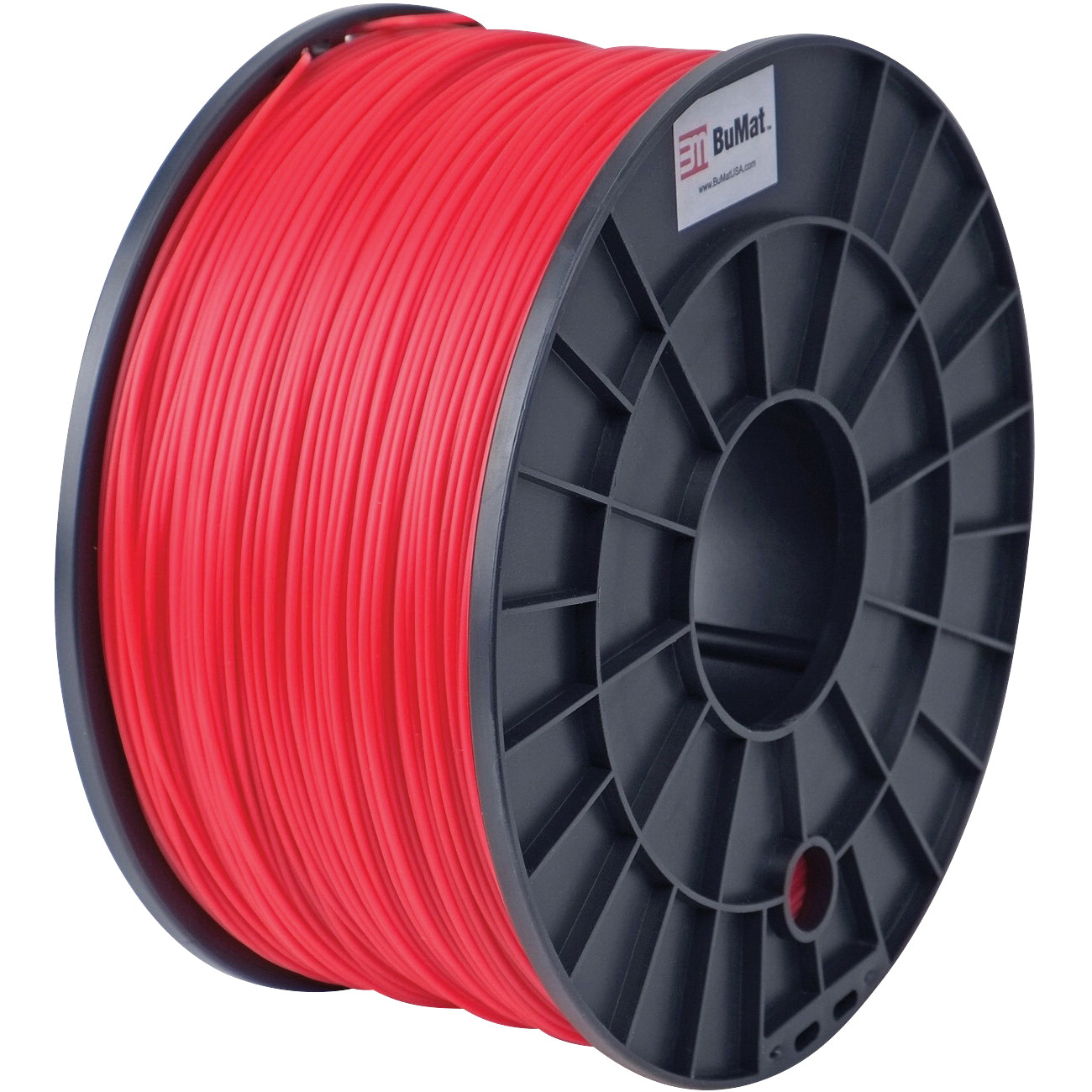 BuMat Filament Cartridge, 1.75 mm, PLA, Red, For Use With 3D Printer Nozzles