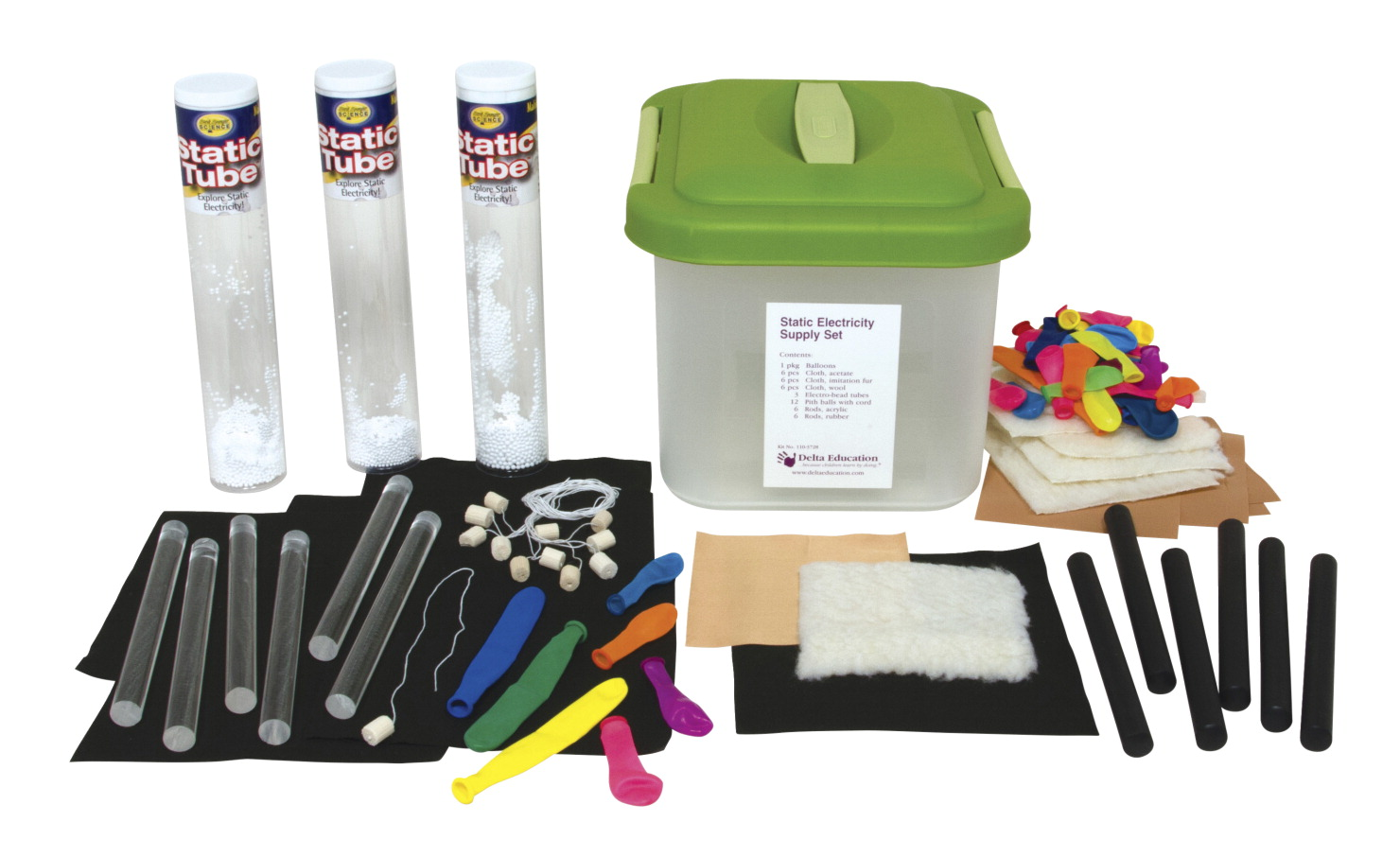Delta Education Static Electricity Supply Kit, Grade 3 - 6