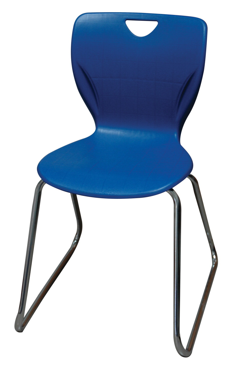 classroom select contemporary sled base chair with felt glides 14 in