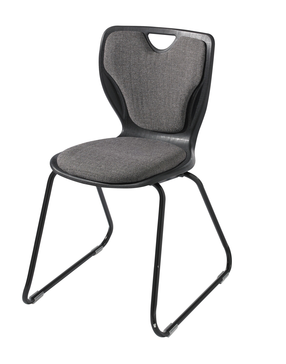classroom select padded contemporary sled base chair with felt glides