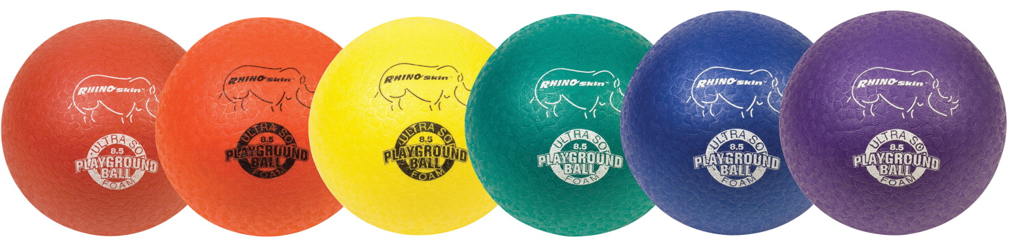Champion 8 1/2 in,  Sports Rhino Skin Soft EEZE Playground Ball Set, Set of 6