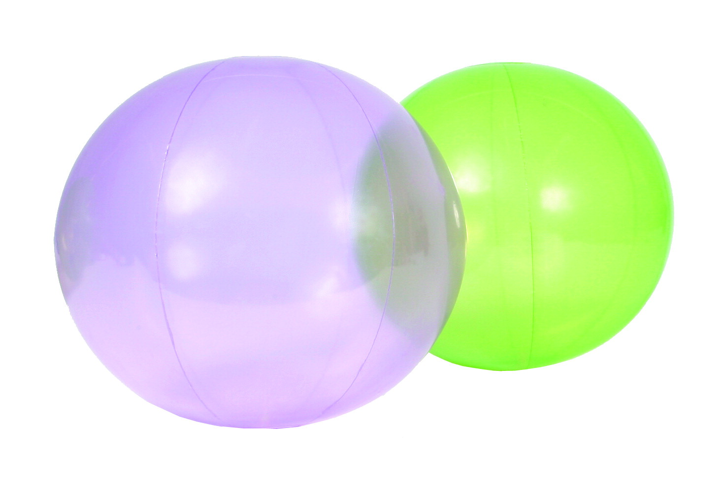 Sportime FingerLights Balls, 16 Inches, Green/Purple, Set of 2
