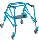 Drive Medical Nimbo Lightweight Gait Trainer, 23-1/2 to 31-1/2 in, Aluminum, Cornflower Blue, Youth