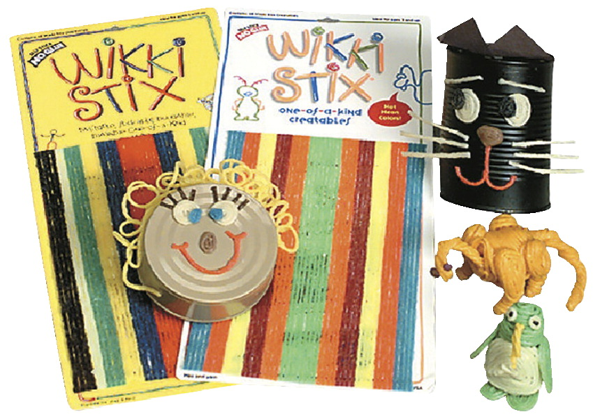 Wikki Stix Wax Set, 8 Inches, Assorted Primary Colors, Set of 48