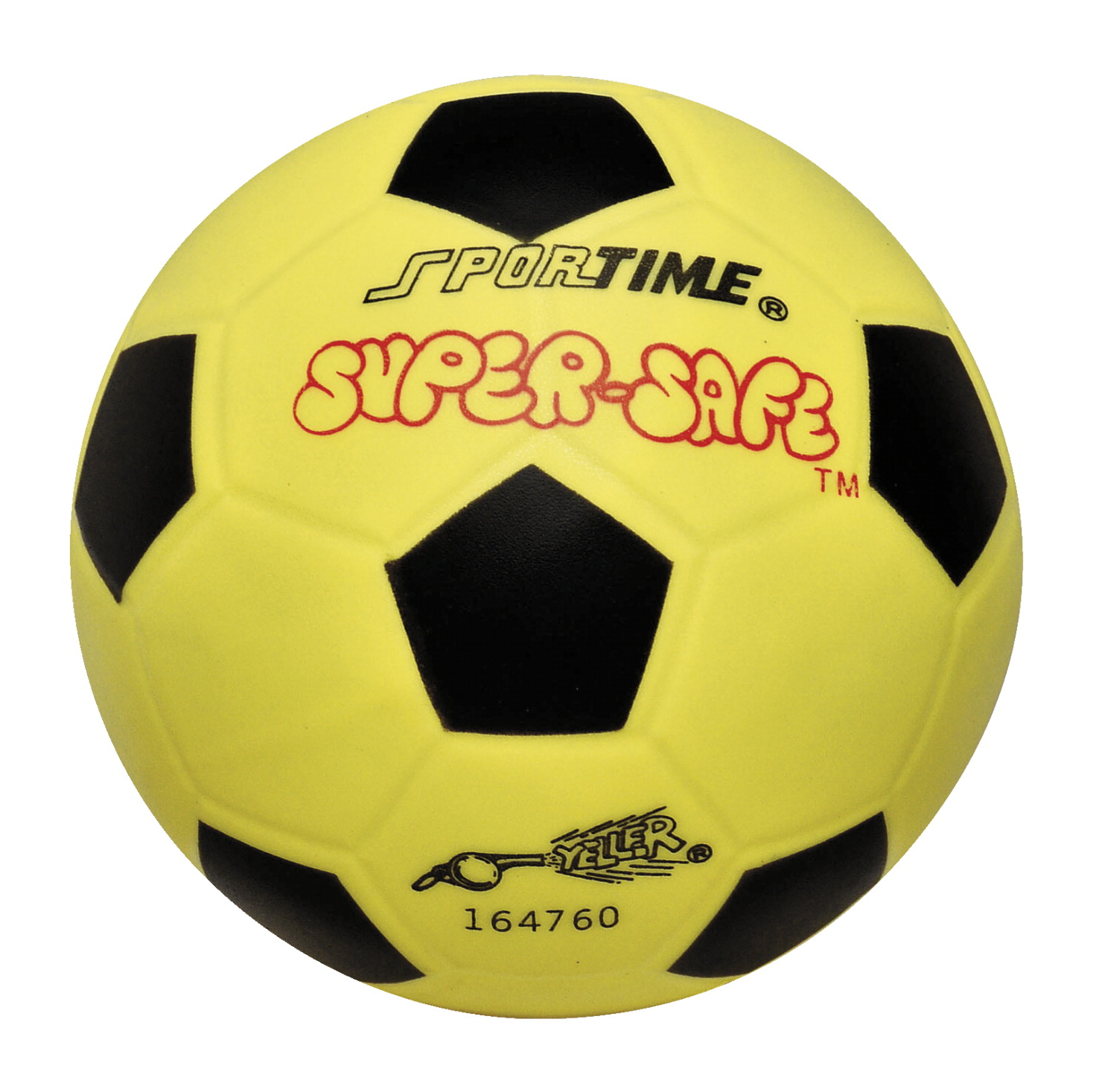 Sportime Super-Safe Soccer Ball, 6 Inches, Yellow/Black