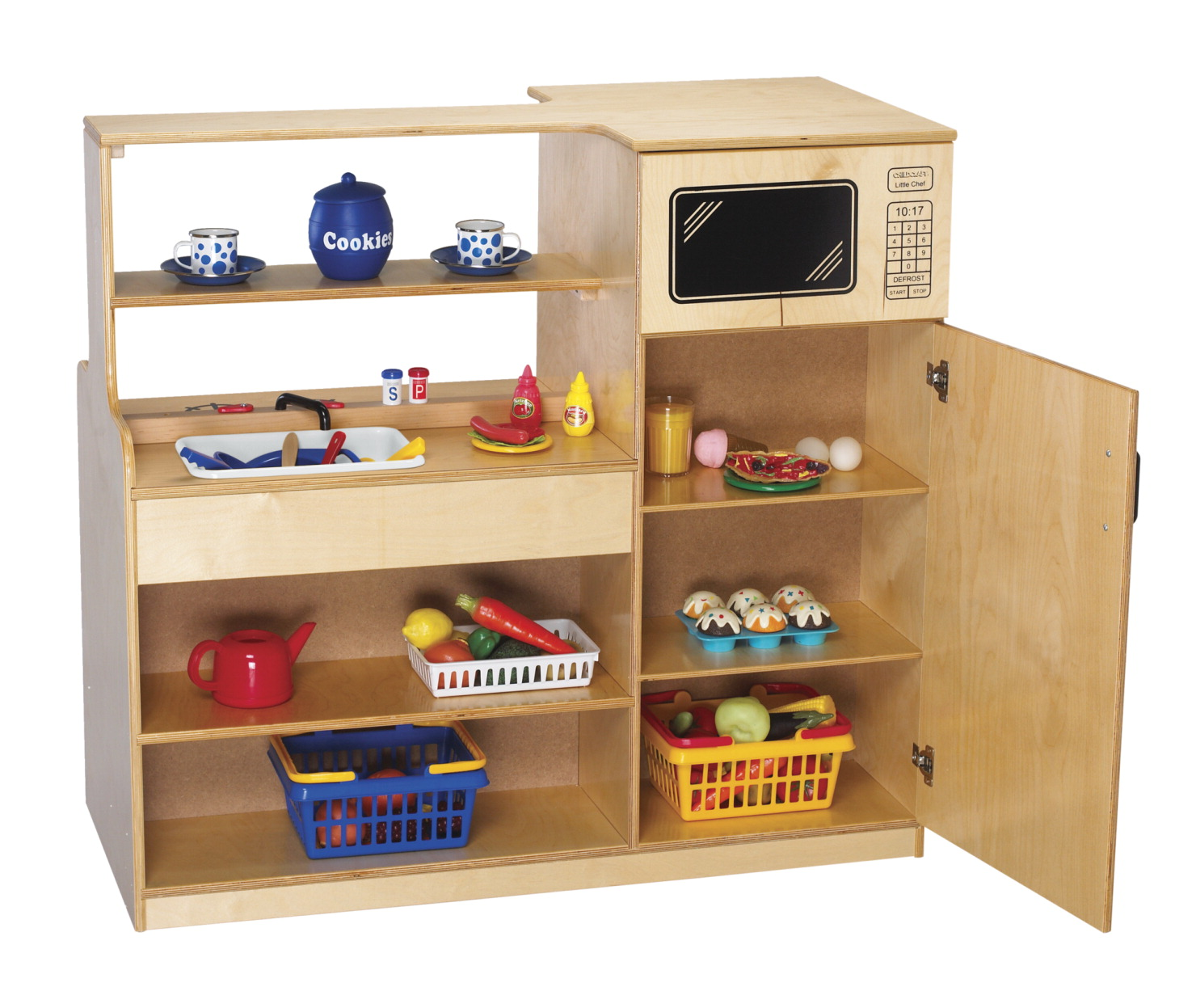 Island play kitchen school specialty marketplace for Child craft play kitchen