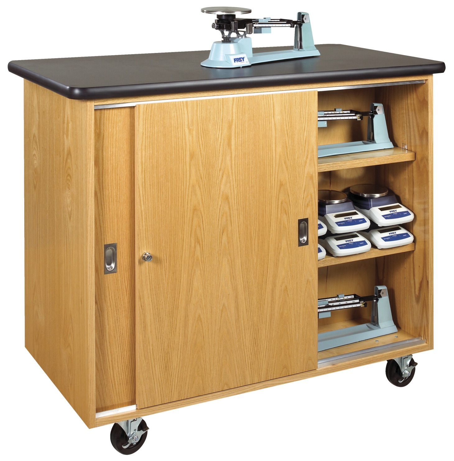 Diversified Woodcrafts Mobile Balance Storage Cabinet, 48 W x 24 D x 40 H in