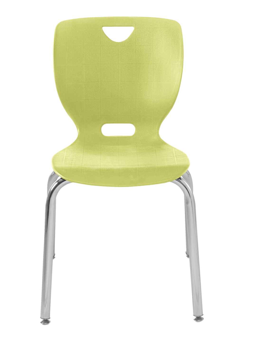 Classroom Select NeoClass Smooth Back Chair, 18 Inch Seat Height, Chrome Frame, Various Options