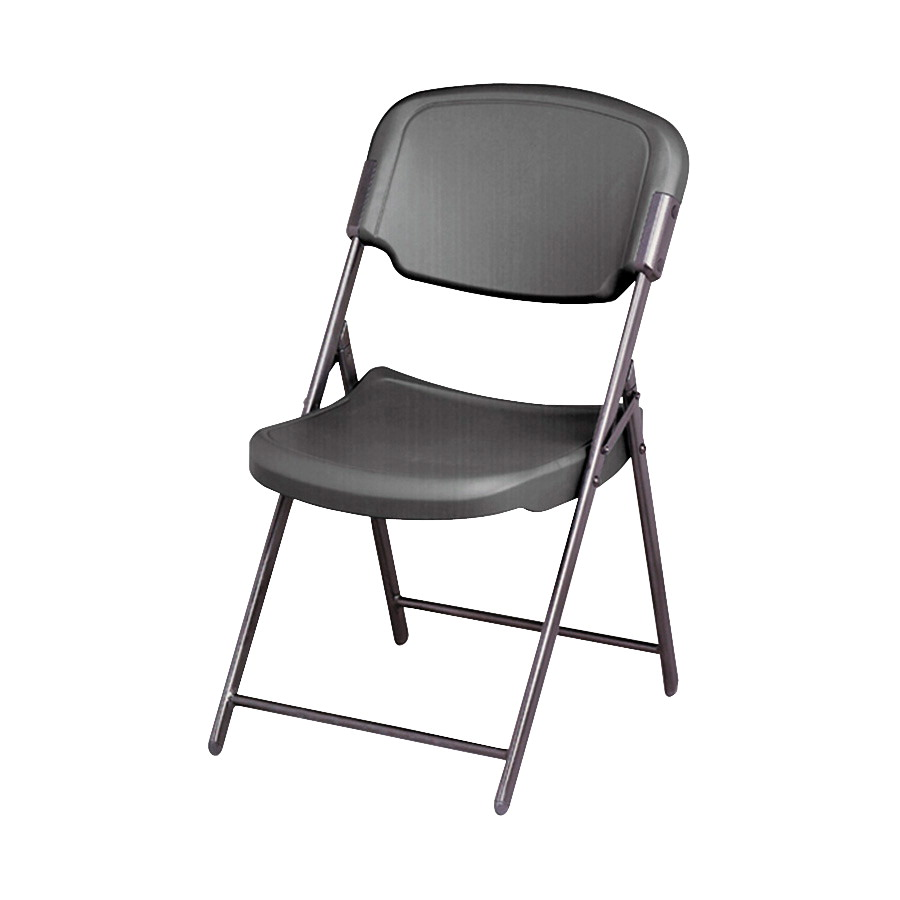 Iceberg Rough-N-Ready Folding Chair, 18-3/4 x 21-1/2 x 35-1/2 Inches, Charcoal