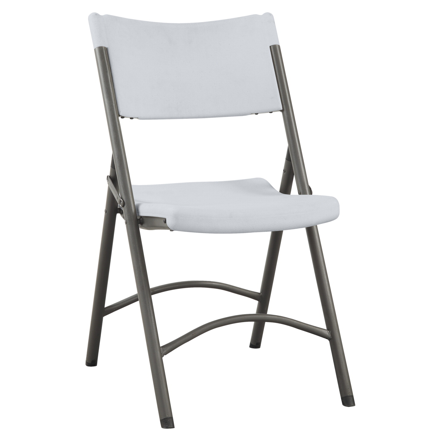 Lorell Folding Chair, 18-1/2 x 21-7/8 x 33-1/8 Inches, Platinum, Count of 4