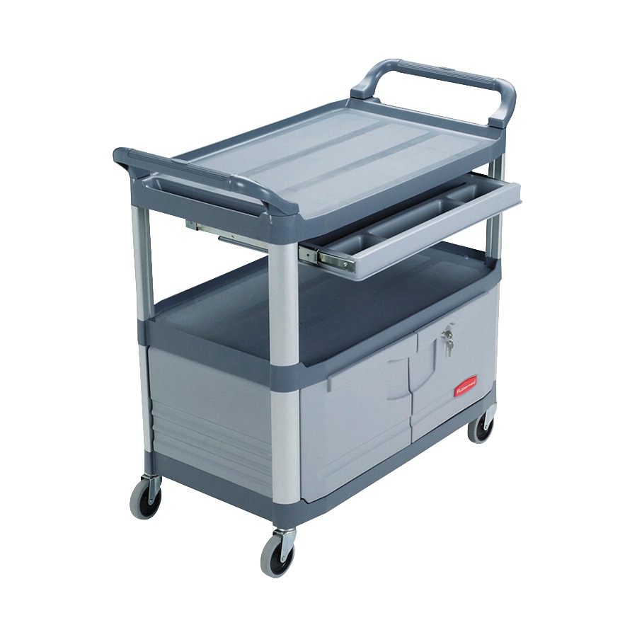 Rubbermaid Instrument Cart, 300 Pound Capacity, 40-5/8 x 20 x 37-3/4 Inches, Gray