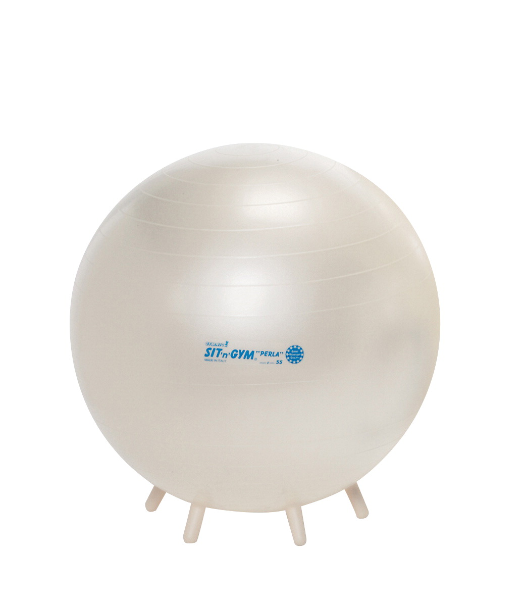 Gymnic Sit'N'Gym Therapy Ball with Built in Legs, 22 Inches, Pearl White