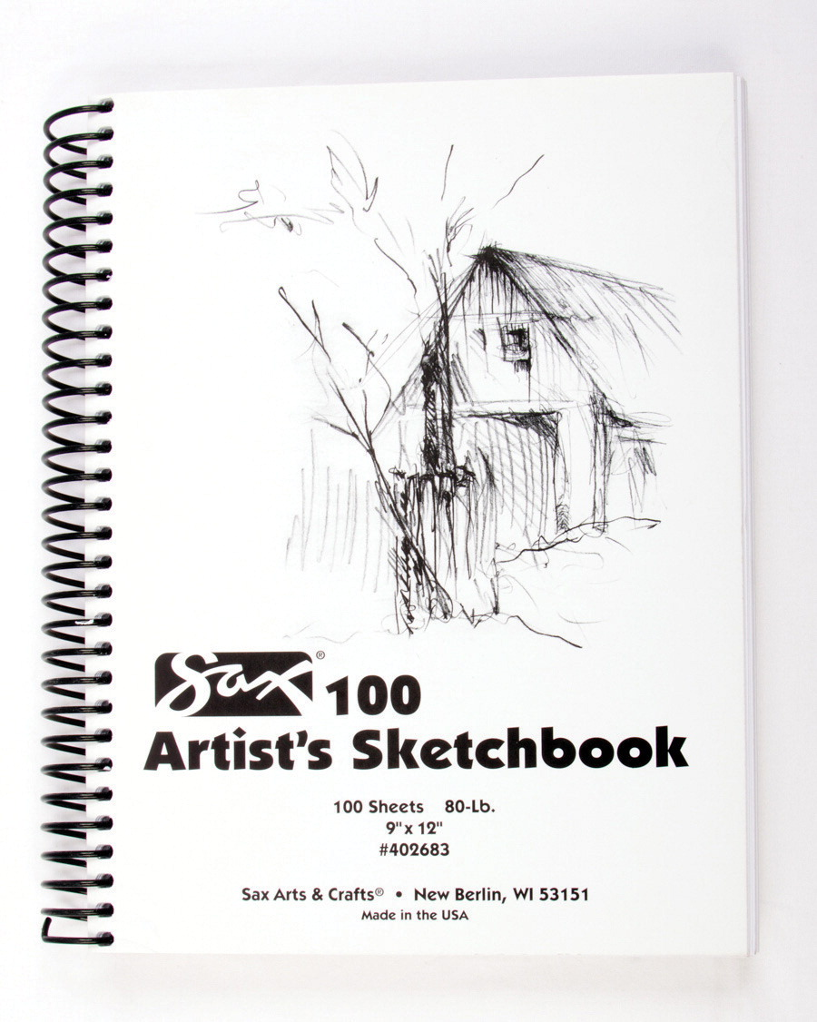 Sax 100 Artist's Sketchbook, 80 lb, 9 x 12 Inches, White