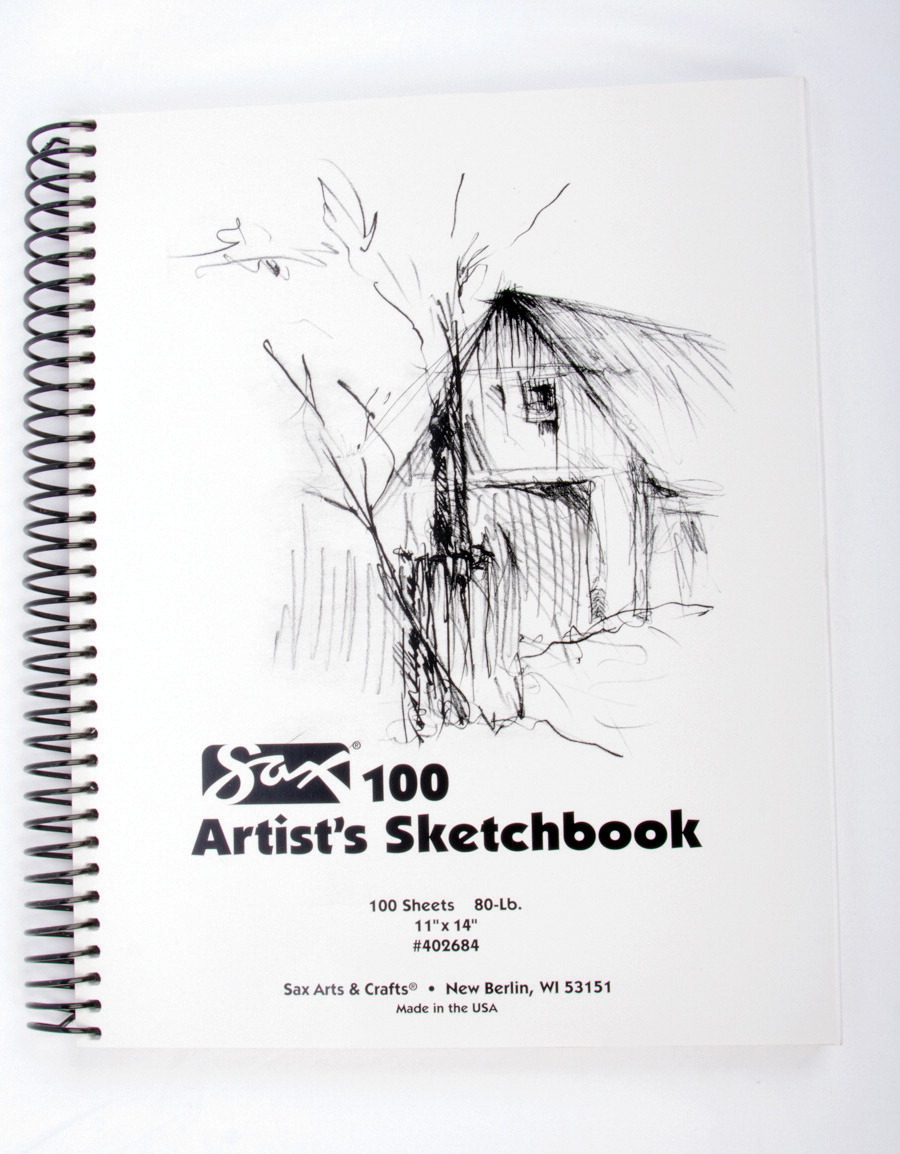 Sax 100 Artist's Sketchbook, 80 lb, 11 x 14 Inches, White