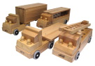ECR4Kids Wooden Vehicle Set, Ages 12 Months to 6 Years, Set of 4